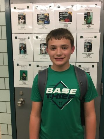 Fitzwater Named Student of the Month