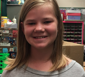 Grace Rowland Named Student of the Month