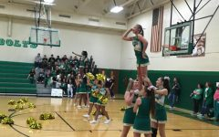 Cheerleaders at the 8th Grade Pep Assembly