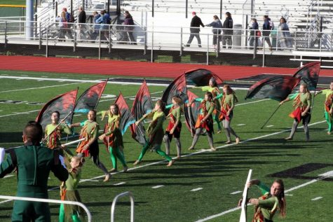 MS Color Guard Students Head to Indy Championships