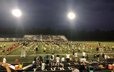 Eighth Grade  Band Marches with the High School