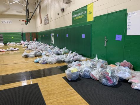 Student Items Bagged for Pick Up